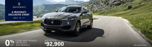 A Maserati Exclusive 5 Day Sales Event