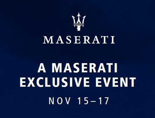 Maserati Exclusive Event